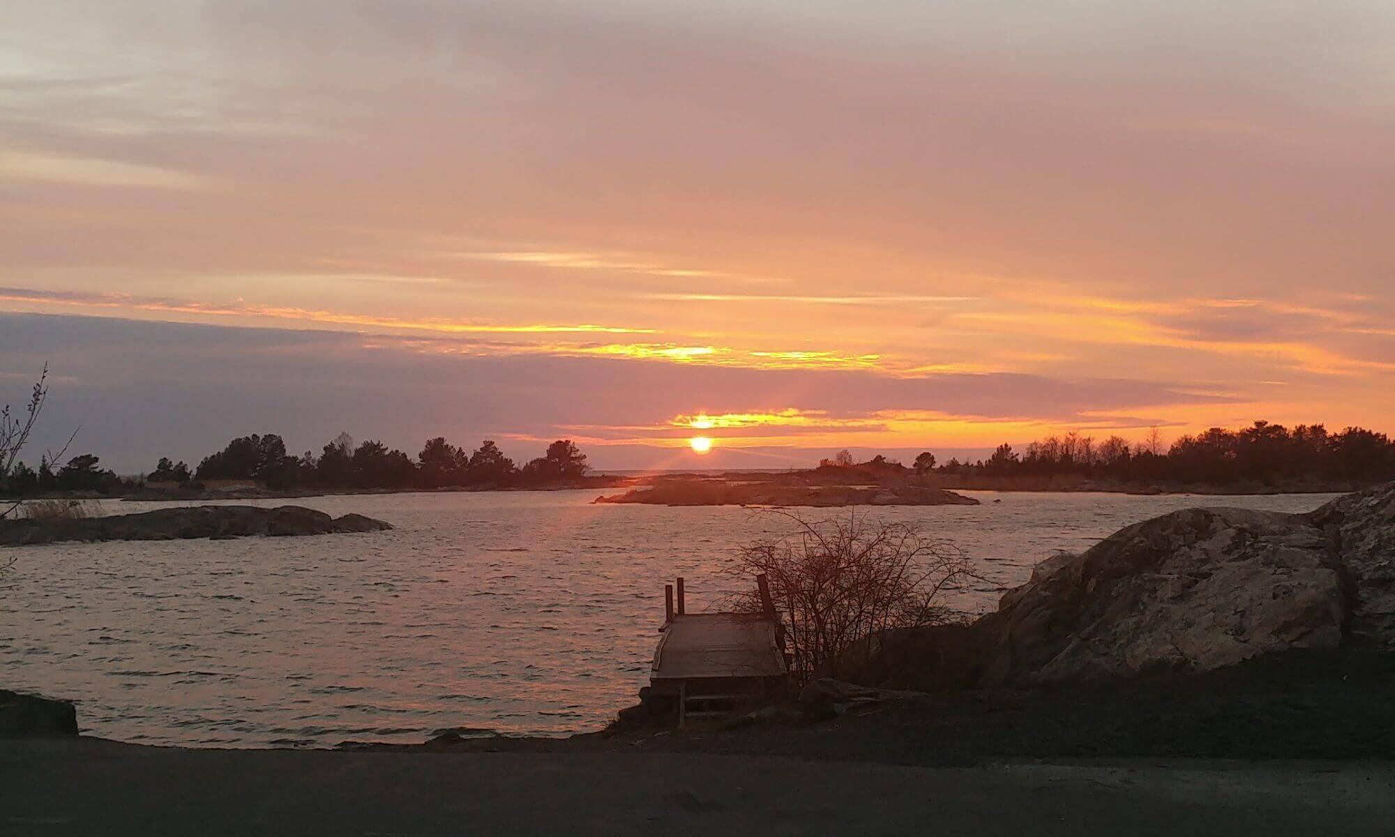 Solnedgång på Gräsö