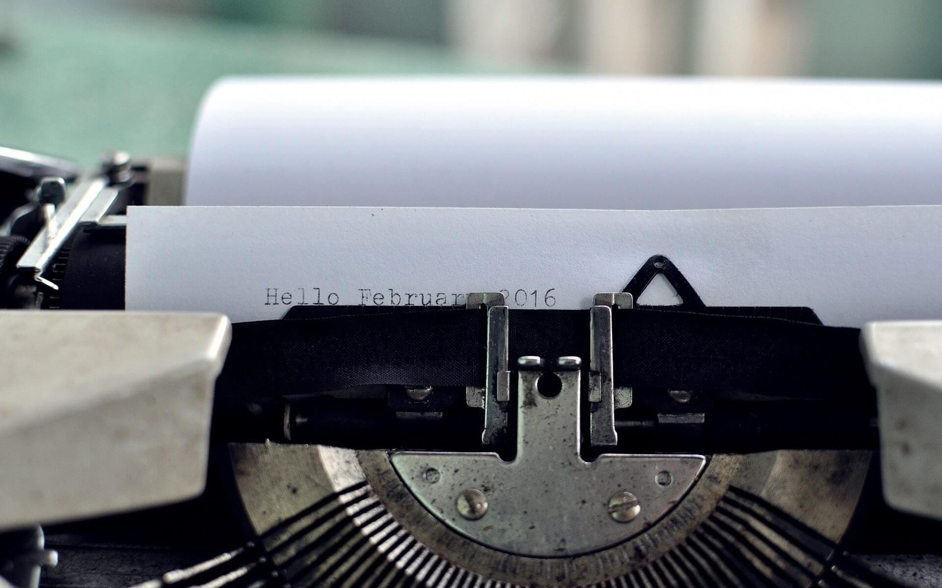 frilansskribent skrivmaskin