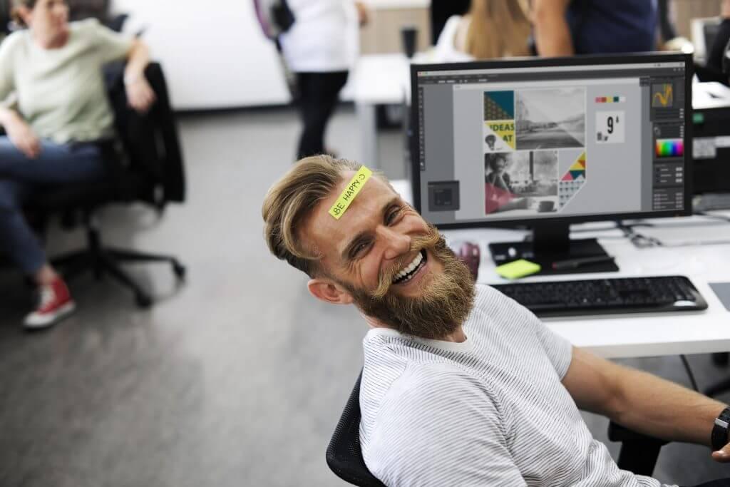 kontor företag datorer