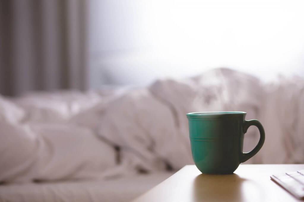 kaffe koffeinvila säng