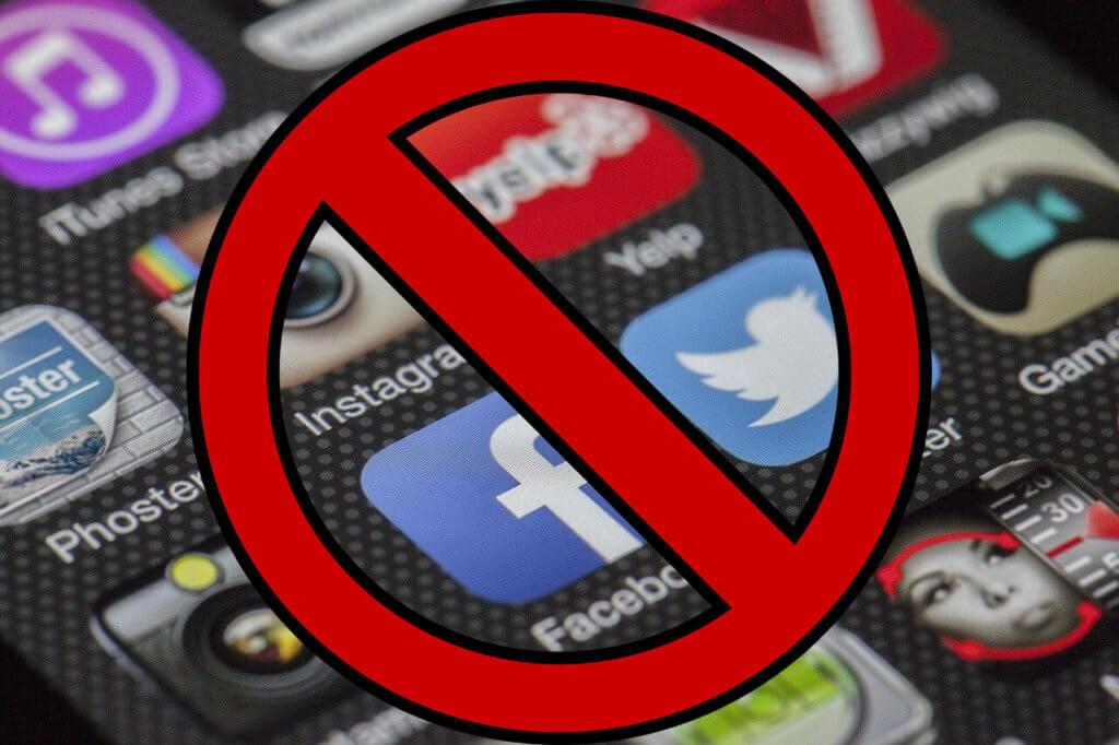 Sociala medier nej förbud