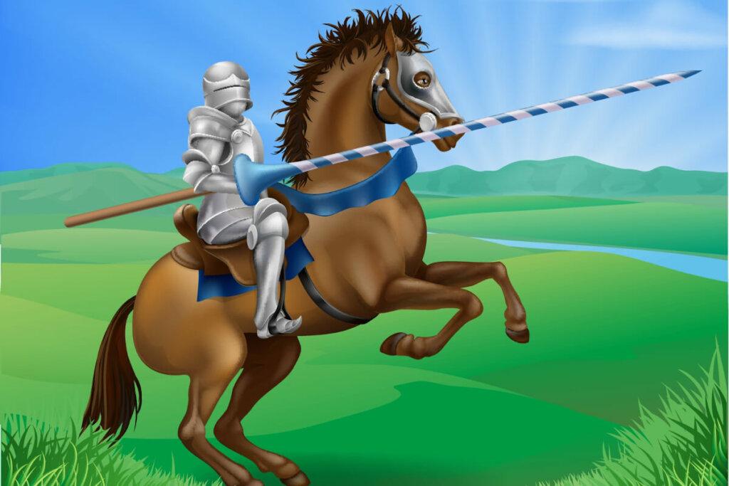 Frilans riddar på häst