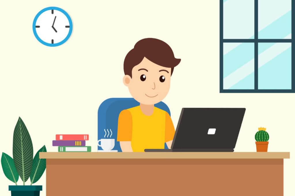 Bild som illustrerar produktivitet vid hemarbete